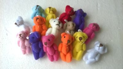 Teddy Bears x 15 tiny assorted SLIGHT SECONDS - CRAFTS  MINIATURES (F5066)