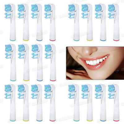 20Pcs Electric Toothbrush Dual Heads Vitality Precision Clean UK STOCK