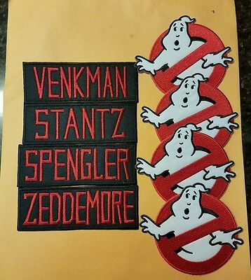 Ghostbusters Name Tag & No Ghost Cosplay/Costume/Uniform patch set(8)