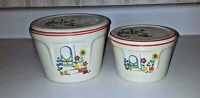 Vintage Kitchen Covered Dishes Universal Cambridge Cottage Style Set Of 2 Wow!