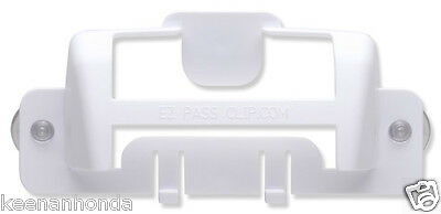 White MINI - EZ-Pass Clip Electronic Toll Tag Holder for the New Small E-ZPass