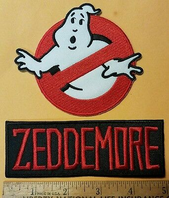 Ghostbusters Name Tag Zeddemore & No Ghost Cosplay/Costume/Uniform patch
