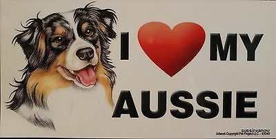 Puppy Dog Aussie Magnet Car Display Anywhere  Love Heart  Refrigerator Cabinet