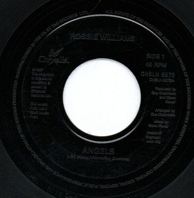 """ROBBIE WILLIAMS - ANGELS / SOUTH OF THE BORDER  - 7"""" 45rpm vinyl single"""