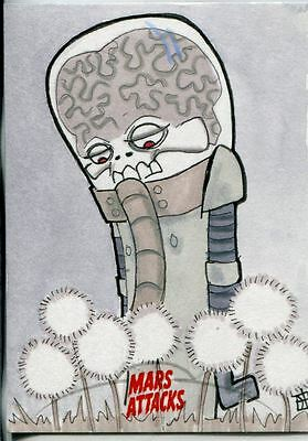Mars Attacks Invasion Sketch Card By Jay