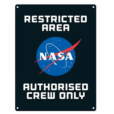Nasa Restricted Area A5 Steel Sign Tin Picture Wall Art Retro Plaque Crew Only