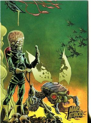 Mars Attacks Invasion Gold Stamped Parallel Base Card #62