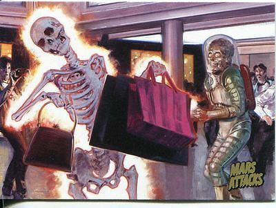 Mars Attacks Invasion Gold Stamped Parallel Base Card #34