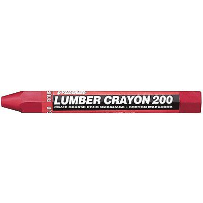 "Markal 200 Lumber Crayon Economical Wax Based Marker, 1/2"" Hex, 4-5/8"" Length,"