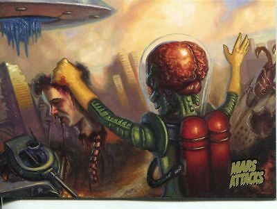 Mars Attacks Invasion Gold Stamped Parallel Base Card #49