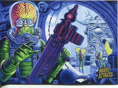 Mars Attacks Invasion Gold Stamped Parallel Base Card #50