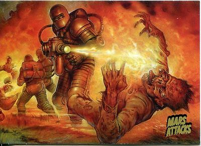 Mars Attacks Invasion Gold Stamped Parallel Base Card #16