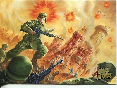 Mars Attacks Invasion Gold Stamped Parallel Base Card #42