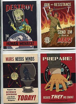 Mars Attacks Invasion Complete Join The Fight Chase Card Set 1-4