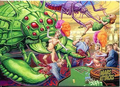 Mars Attacks Invasion Gold Stamped Parallel Base Card #4