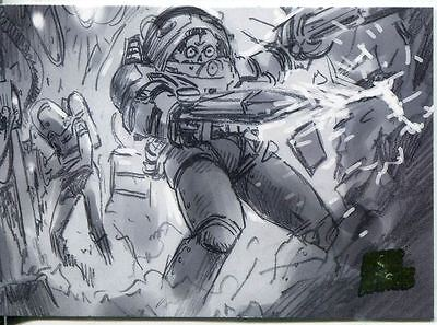 Mars Attacks Invasion Pencil Concept Art Parallel Base Card #17