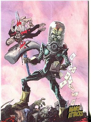 Mars Attacks Invasion Gold Stamped Parallel Base Card #73