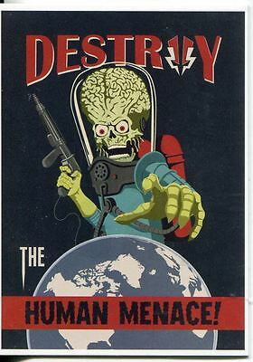 Mars Attacks Invasion Parallel Graffiti Embossed Join The Fight Chase Card #1