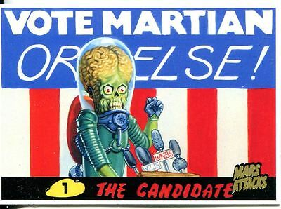 Mars Attacks Invasion Gold Stamped Parallel Base Card #93