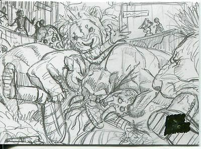 Mars Attacks Invasion Pencil Concept Art Parallel Base Card #12