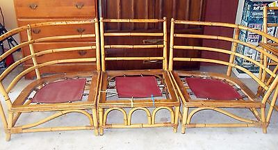FICKS REED CO. FURNITURE SET BAMBOO VINTAGE FORM THE EARLY 80's