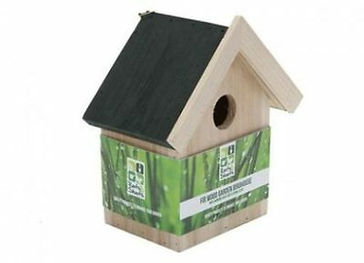 1 X Wooden Nesting Nest Box Bird House Small Birds Blue Tit Robin Sparrow