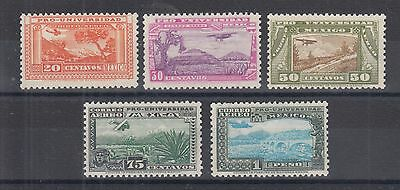 Mexico Sc C54-C58 MNH. 1934 National University, short set to 1p value, F-VF