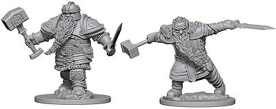 Dwarf Fighter - Dungeons & Dragons Pathfinder Primed Unpainted 25Mm Miniatures