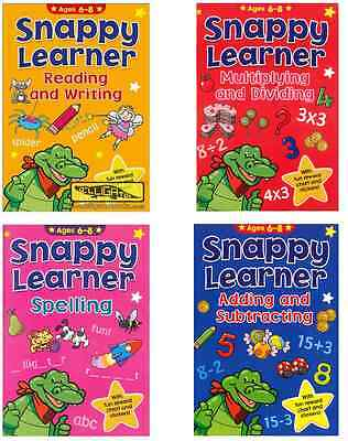 Snappy Learner 4 Educational Learning Books 6-8 Year Olds Maths Spelling Writing