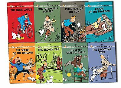 Adventures of Tintin Young Readers 8 Books Collection Pack Set -Cigars of the Ph
