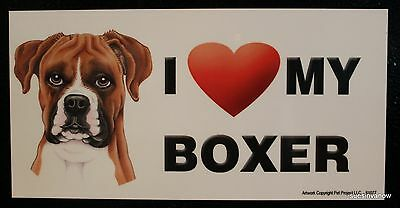 Boxer Puppy Magnet Dog Car RV Display Anywhere Love Heart  Refrigerator Cabinet