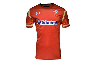 Under Armour Unisex Wales WRU 2016/17 Home Kids S/S Rugby Shirt Sport Training