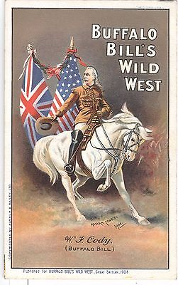 Buffalo Bill's Wild West - W.J. Cody, Barnum & Bailey 1904 original postcard