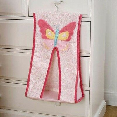 Nursery Nappy Stacker Brand New Baby Girl Pink Butterfly/ Flowers New