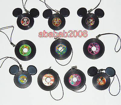 Takara Tomy Disney Mickey figure Record strap gashapon (full set of 10 figures)