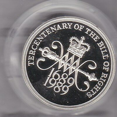 1989 Boxed Piedfort Silver Proof £2 Bill Of Right With Certificate