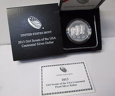 2013 Girl Scouts of the USA Proof Silver Dollar Commemorative