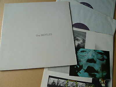 THE BEATLES The White Album 2xLP Capitol Records SWBO 101 Canadian with Poster