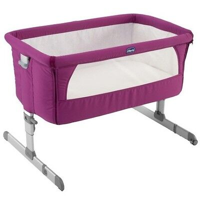 Crib cradle ideal from birth to 6 months Co-sleeping Next2Me 68 Fuchsia Chicco