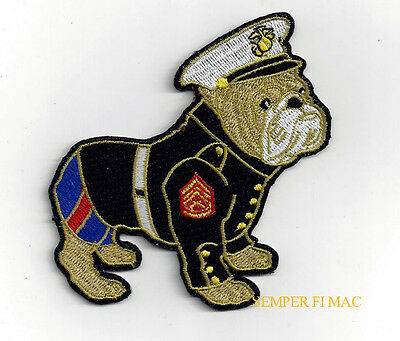 US MARINES BULLDOG HAT PATCH DEVIL DOG USMC CHESTY HELMET Teufel Hunden PIN UP