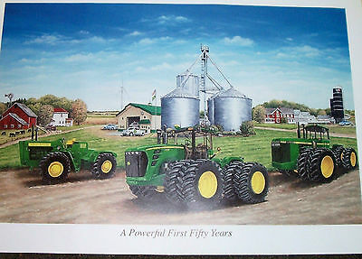 John Deere Collectible Print ( A Powerful First Fifty Years)  2009