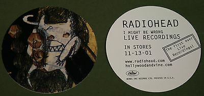 RADIOHEAD I Might Be Wrong Crying White Devil ROUND 5 PACK PROMO STICKERS