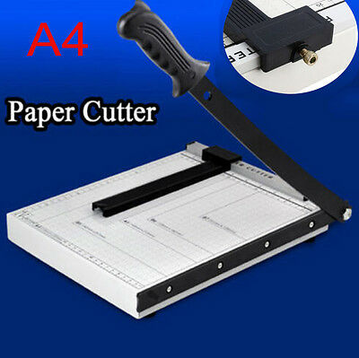 Heavy Duty Metal Precision A4 Paper Photo Trimmer Cutter Ruler Guillotine Local