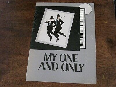 My One and Only Musical Program Twiggy Tommy Tune Gershwin Color Photos 1983