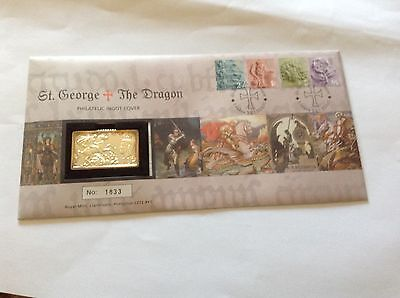 2001 Royal Mail /Mint  Ingot Cover - St. George & The Dragon.