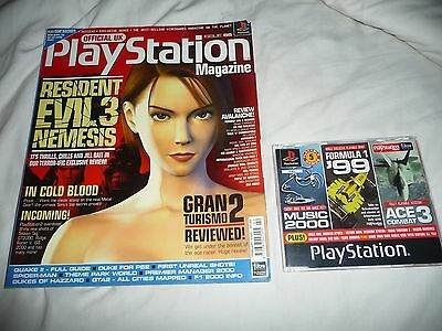 Official Uk Playstation Magazine Issue No.55- Resi Evil 3  + 5 Game Demo Disc