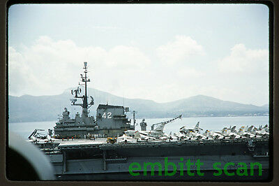 Original Slide, Navy Aircraft Carrier USS Franklin D. Roosevelt (CVA-42), 1960