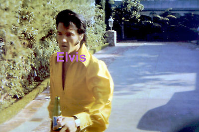 Elvis Presley Gorgeous In Gold Shirt Holding Mountain Dew Hillcrest Photo Candid