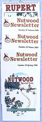 Rupert Bear lot of 5, Nutwood Newsletters 57, 58, 59 One Special + 2006 Calender