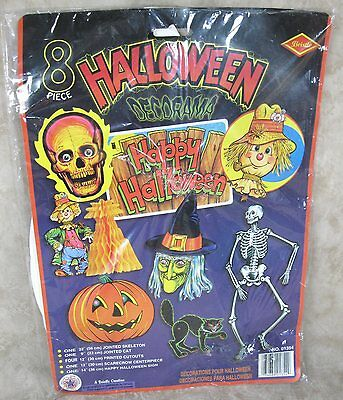 Vintage 1995 Beistle 8 Piece Halloween Decorama Lot New In Sealed Package